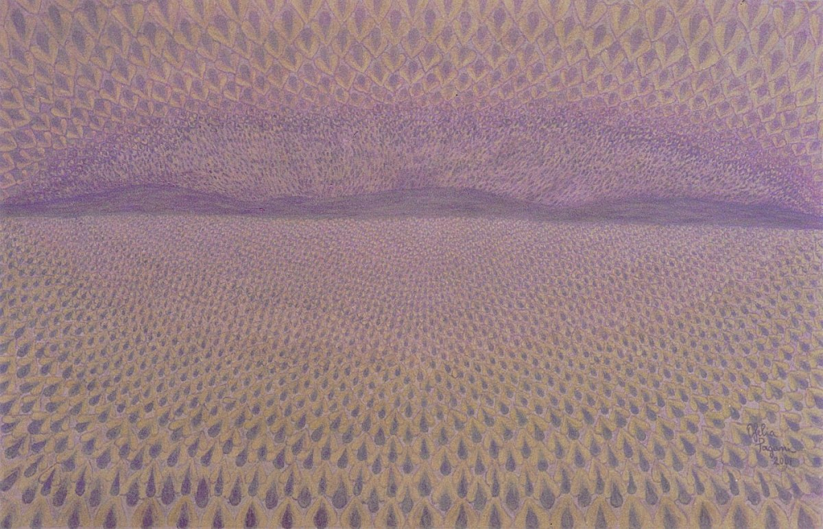 Seeds of the Desert (acrílico sobre lienzo, 61 x 95 cm)